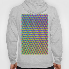 Colorful 3D Cubes Pattern Hoody