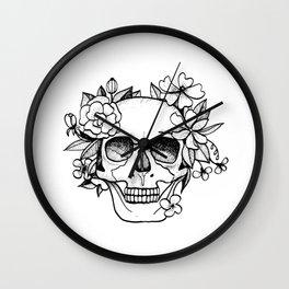 Skull glam Wall Clock