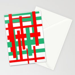 Random lines Stationery Cards