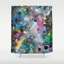 Galaxy within Aquarelle I Shower Curtain
