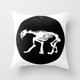 Saber toothed tiger skeleton Throw Pillow