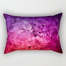 Ultra Violet Diamond Rainbow Rectangular Pillow