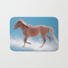 Walking on clouds over the blue sky - version #2 - #society6 #buyart Bath Mat