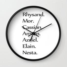 High Lady's Litany B&W Wall Clock