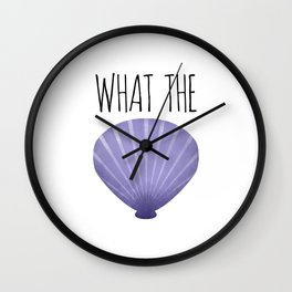 What The Shell Wall Clock