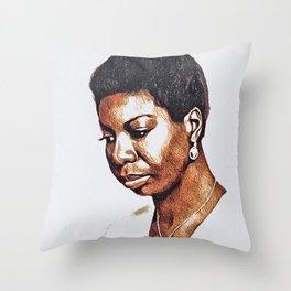 Nina Simone, Music Legend Throw Pillow