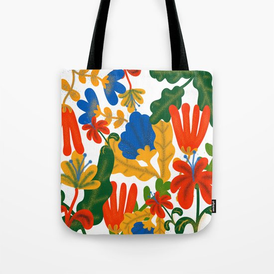 Tropical Flower Pattern II Tote Bag