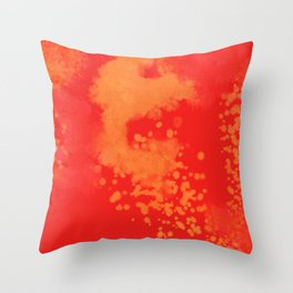 Cherry Gold Explosion Throw Pillow
