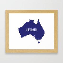 Australia Map Silhouette Framed Art Print
