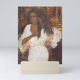 Brazilian Girl in Night Gown Mini Art Print