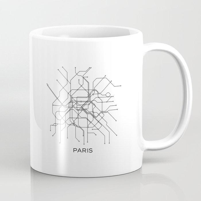 Paris Metro Subway Map.Paris Metro Map Subway Map Paris Metro Graphic Design Black And White Canvas Metropolian Art Coffee Mug By Printablelifestyle