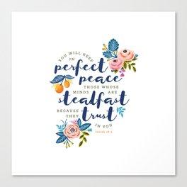 Perfect Peace Canvas Print