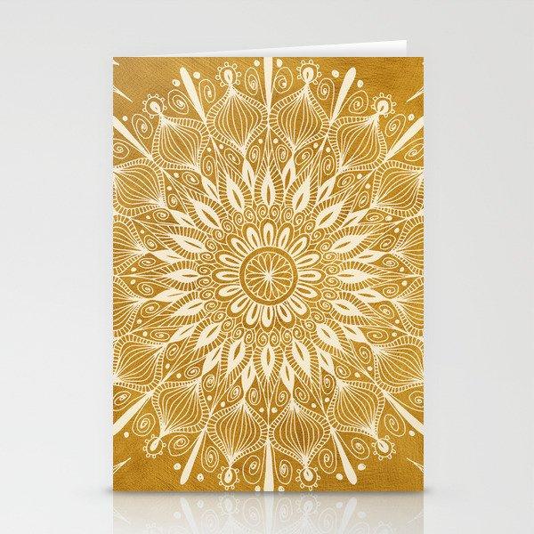 Vintage Mandala on Gold Stationery Cards