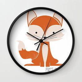 Fritz the Fox Wall Clock