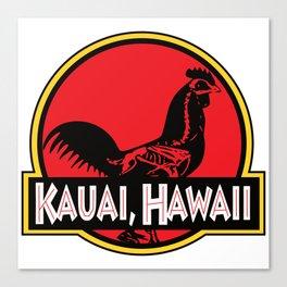 Kauai, Hawaii Jurassic Park Rooster Canvas Print