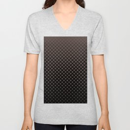 Brown diamonds with black background geometric pattern Unisex V-Neck