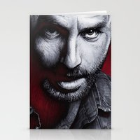 rick grimes Stationery Cards featuring The Walking Dead - Rick Grimes by Trev Murphy