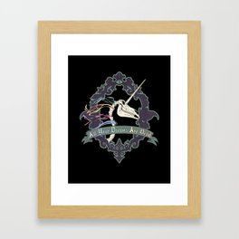 All Your Dreams Are Dead Framed Art Print