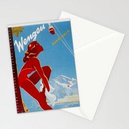 Wengen Switzerland - Vintage Travel Stationery Cards