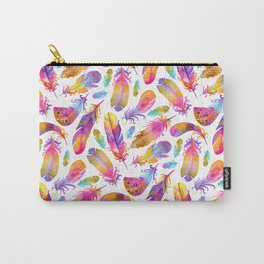 Sunset Feathers in Watercolour Carry-All Pouch