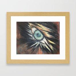 Leering Eye Framed Art Print