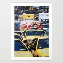 John Turck Turkey Sandwich Taxi Town Art Print