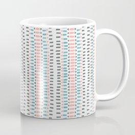 Arrow Stripe, Pink Blue Grey Coffee Mug