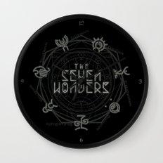 The Seven Wonders Wall Clock