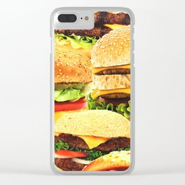 Burgers Clear iPhone Case
