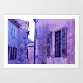 Ancient purple village Art Print
