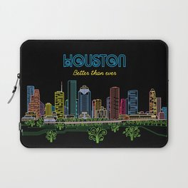 Houston Better Than Ever Circuit Laptop Sleeve