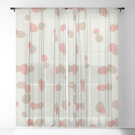 Speckle Sweetness ~ peach & sand Sheer Curtain