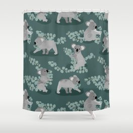 Koala Eucalyptus Hunt Shower Curtain