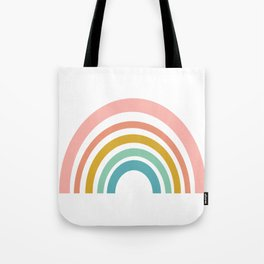Simple Happy Rainbow Art Tote Bag