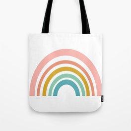 Simple Happy Rainbow Art Tote Bag