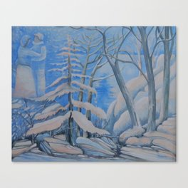 2 Under de snow Canvas Print