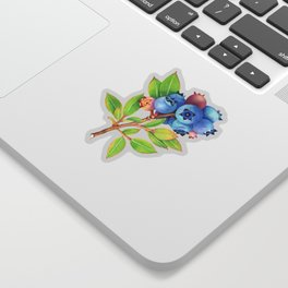 Wild Blueberry Sprigs Sticker