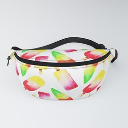 Colorful Watercolor Popsicle Pattern Fanny Pack