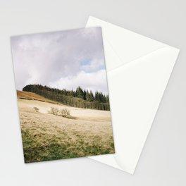 Trees on a sunlit hillside. Upper Derwent Valley, Derbyshire, UK. Stationery Cards