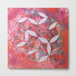Flower of Life Mandala Metal Print