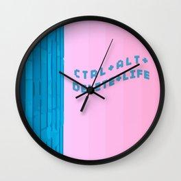 "Vaporwave ""Control Alt Delete Life"" Wall Clock"