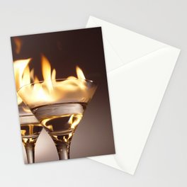 Flaming Aperitifs - Alcoholic Cocktails color photograph / photography by Nik Frey Stationery Cards