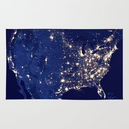City Lights of the United States Rug