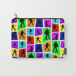 The King Color Tile Silhouette Carry-All Pouch
