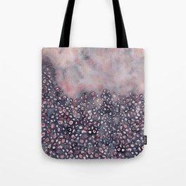 Watercolor abstract indigo shibori denim  Tote Bag