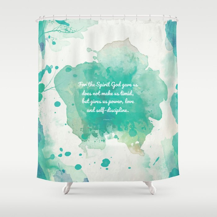 2 Timothy 17 Inspiring Bible Verse Shower Curtain