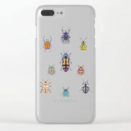 Beautiful bugs Clear iPhone Case