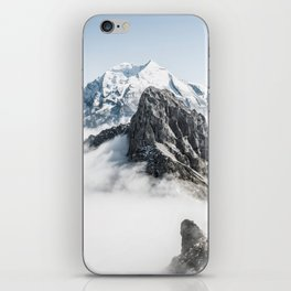 Mountain Tops Above Clouds And Snow iPhone Skin
