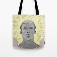 kobe Tote Bags featuring 101 by Opareon