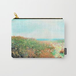 Island Beach, Bright New Day1 Oil Pastel Drawing Carry-All Pouch